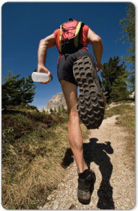 calf muscle injury is most often associated with running sports.